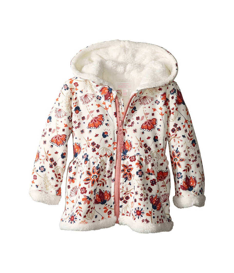 Pumpkin Patch Kids - Fluffy Lined Hoodie Jacket (Infant) (French Vanilla) Girl's Coat