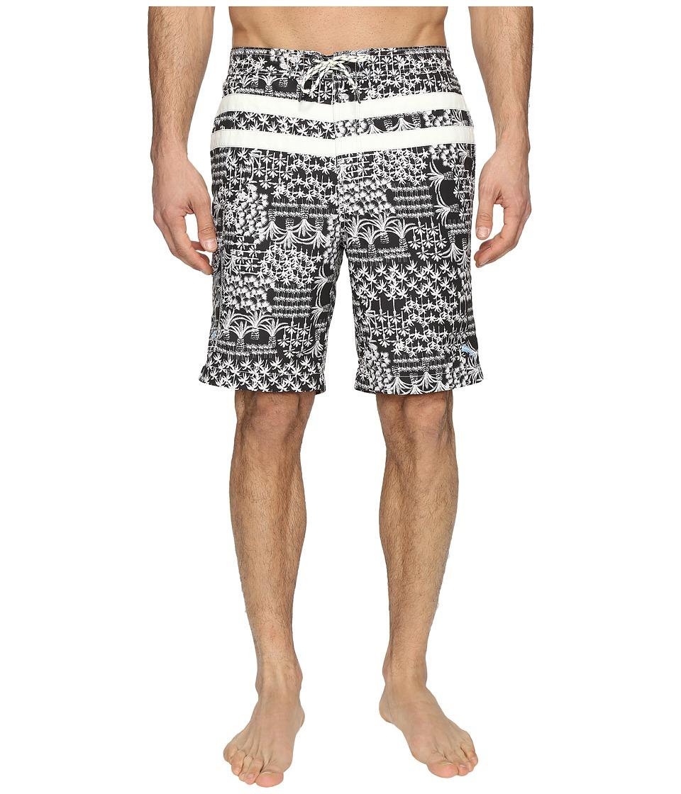 Tommy Bahama - Baja Palm Gardens Swim Trunks (Jet Black) Men's Swimwear