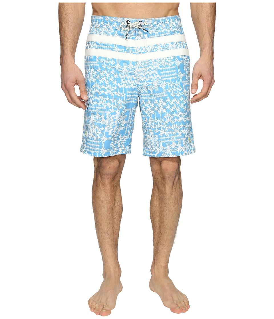 Tommy Bahama - Baja Palm Gardens Swim Trunks (Banff Blue) Men's Swimwear