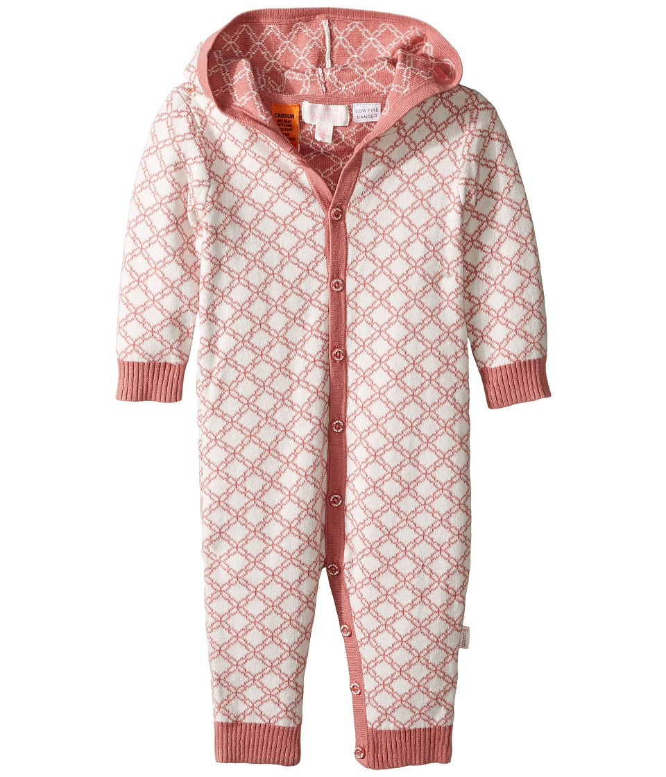 Pumpkin Patch Kids - Jacquard All-In-One (Infant) (Dusty Rose) Girl's Jumpsuit & Rompers One Piece