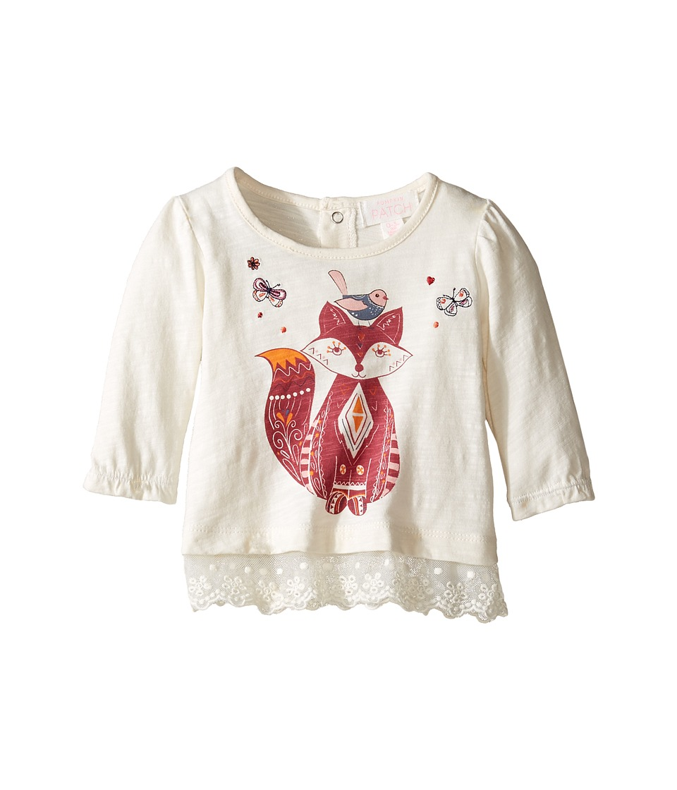 Pumpkin Patch Kids - Lace Trim Top (Infant) (French Vanilla) Girl's Clothing
