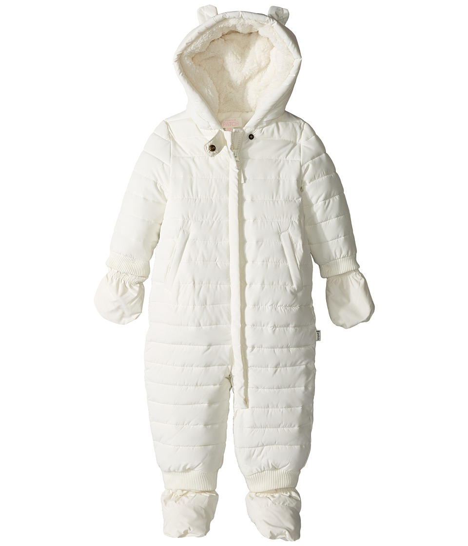 Pumpkin Patch Kids - Snow Suit with Mittens and Booties (Infant) (French Vanilla) Girl's Snow Bibs One Piece