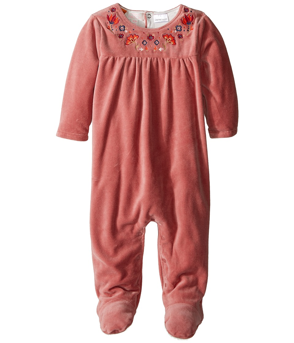 Pumpkin Patch Kids - Velure All-In-One (Infant) (Dusty Rose) Girl's Jumpsuit & Rompers One Piece