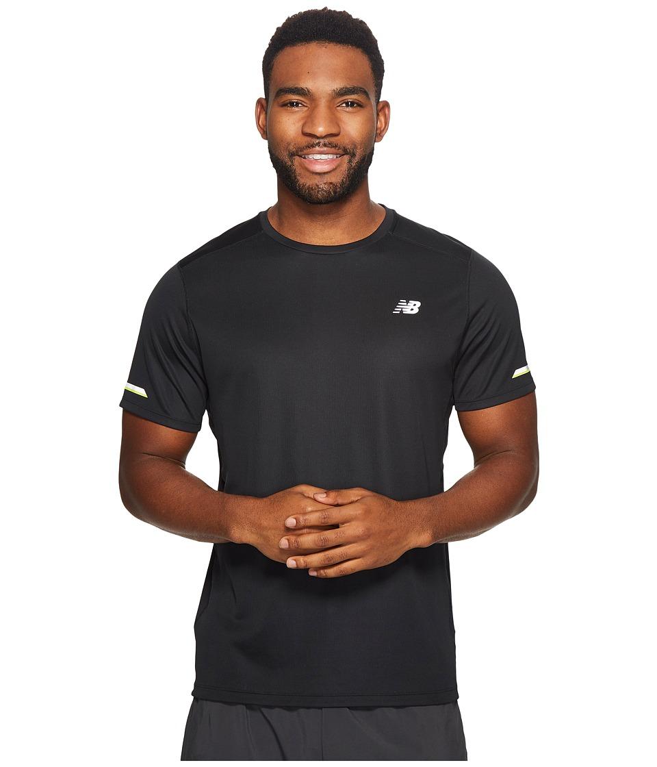 New Balance - NB Ice Short Sleeve Top (Black) Men's Short Sleeve Pullover
