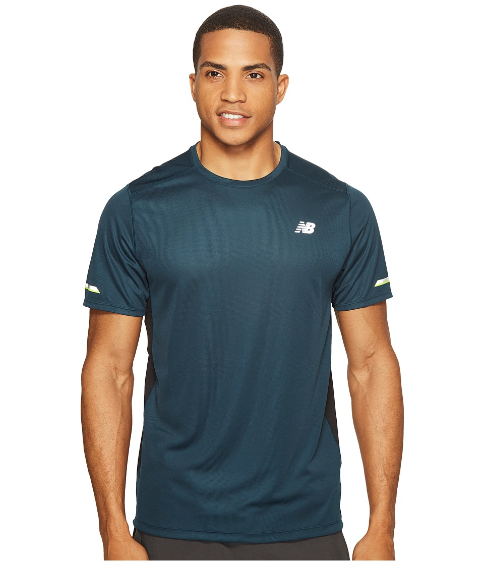 New Balance - NB Ice Short Sleeve Top (Supercell) Men's Short Sleeve Pullover