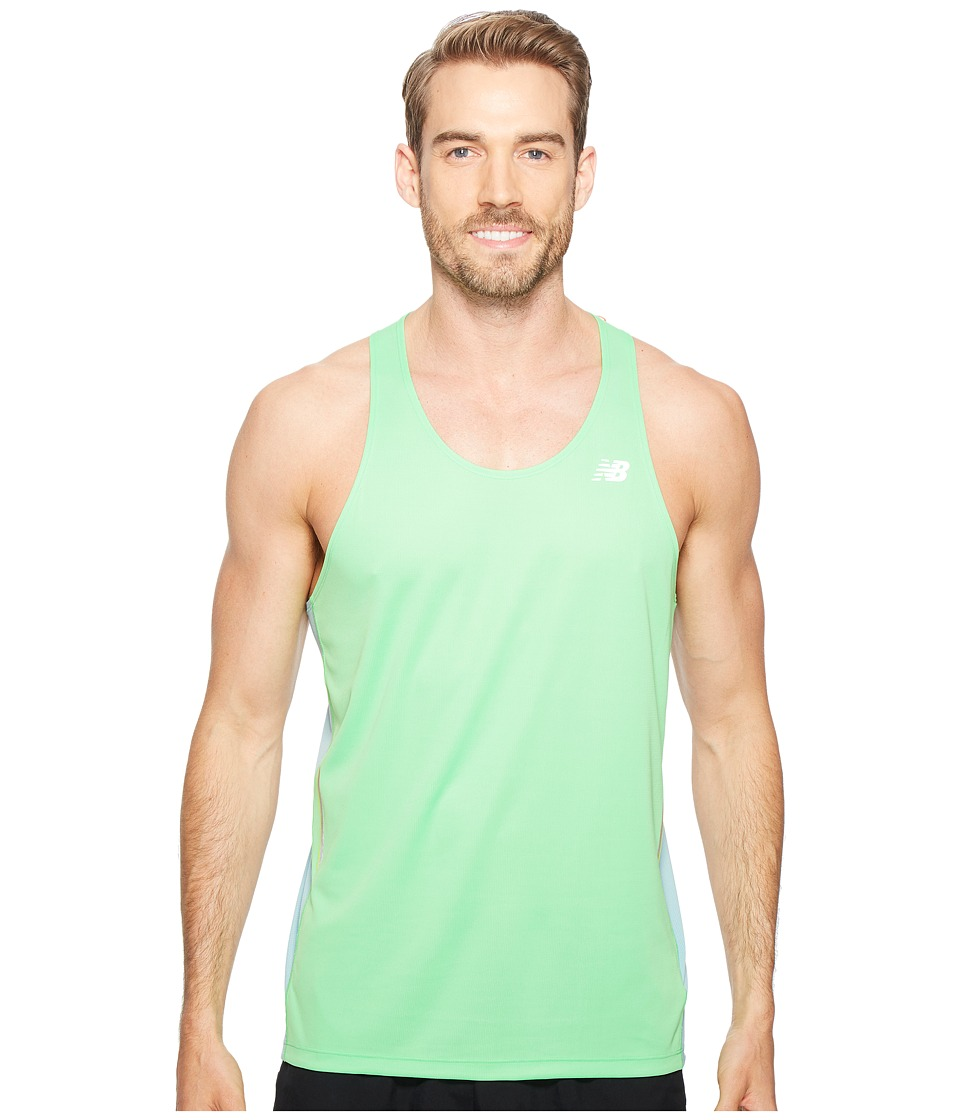 New Balance - NB Ice Singlet (Vivid Cactus/Storm Blue) Men's Sleeveless