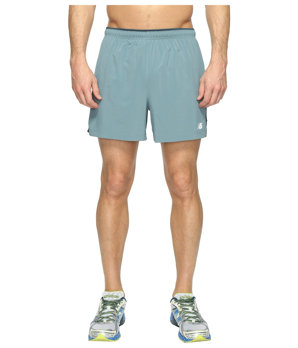 New Balance - Impact 5 Track Shorts (Typhoon/Supercell) Men's Shorts