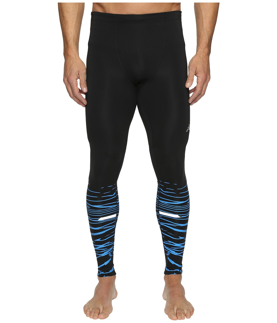New Balance - Impact Tights Print (Black Print) Men's Workout