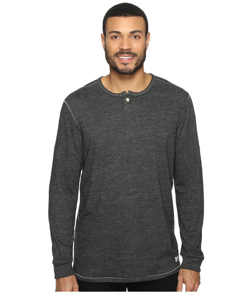 Tommy Bahama - Sunday's Best Long Sleeve Henley (Charcoal Heather) Men's Long Sleeve Pullover