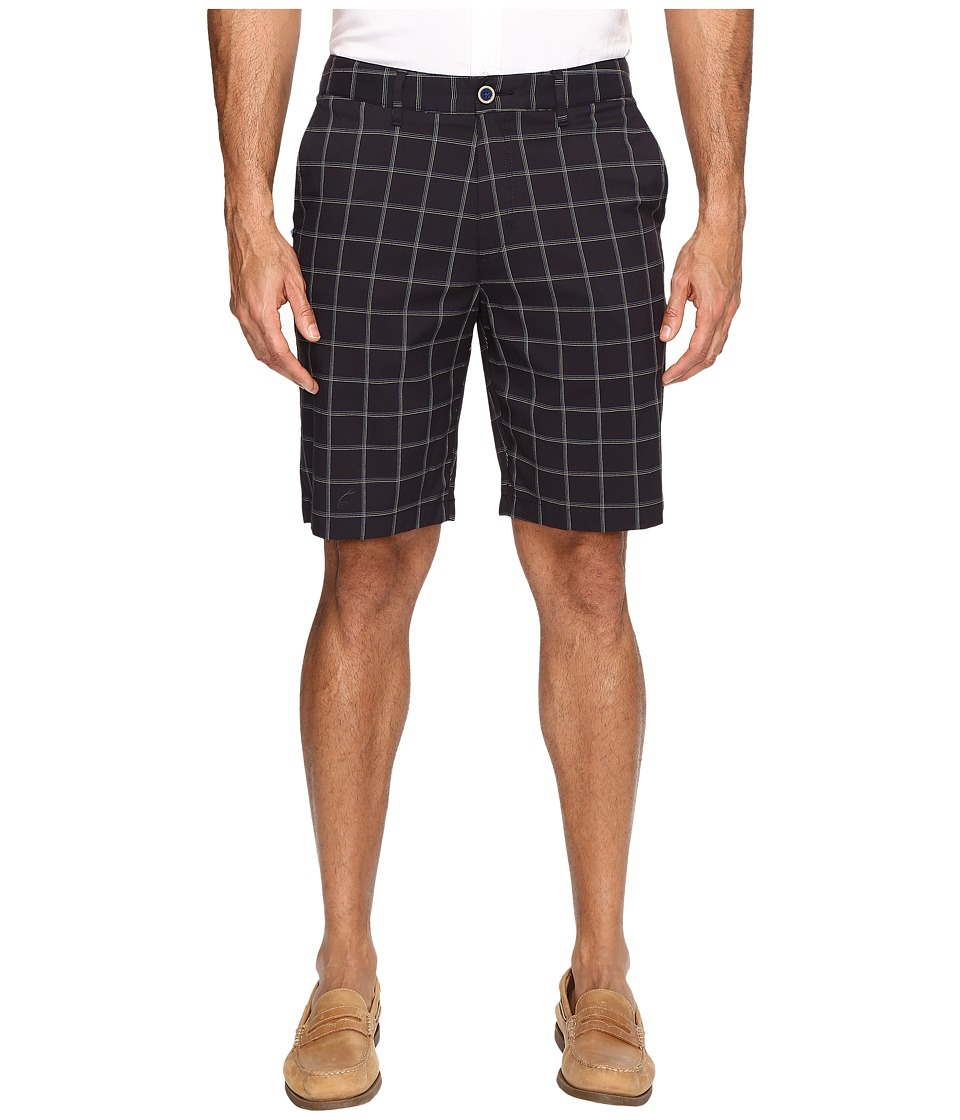 Tommy Bahama - Match Play Plaid Shorts (Black) Men's Shorts