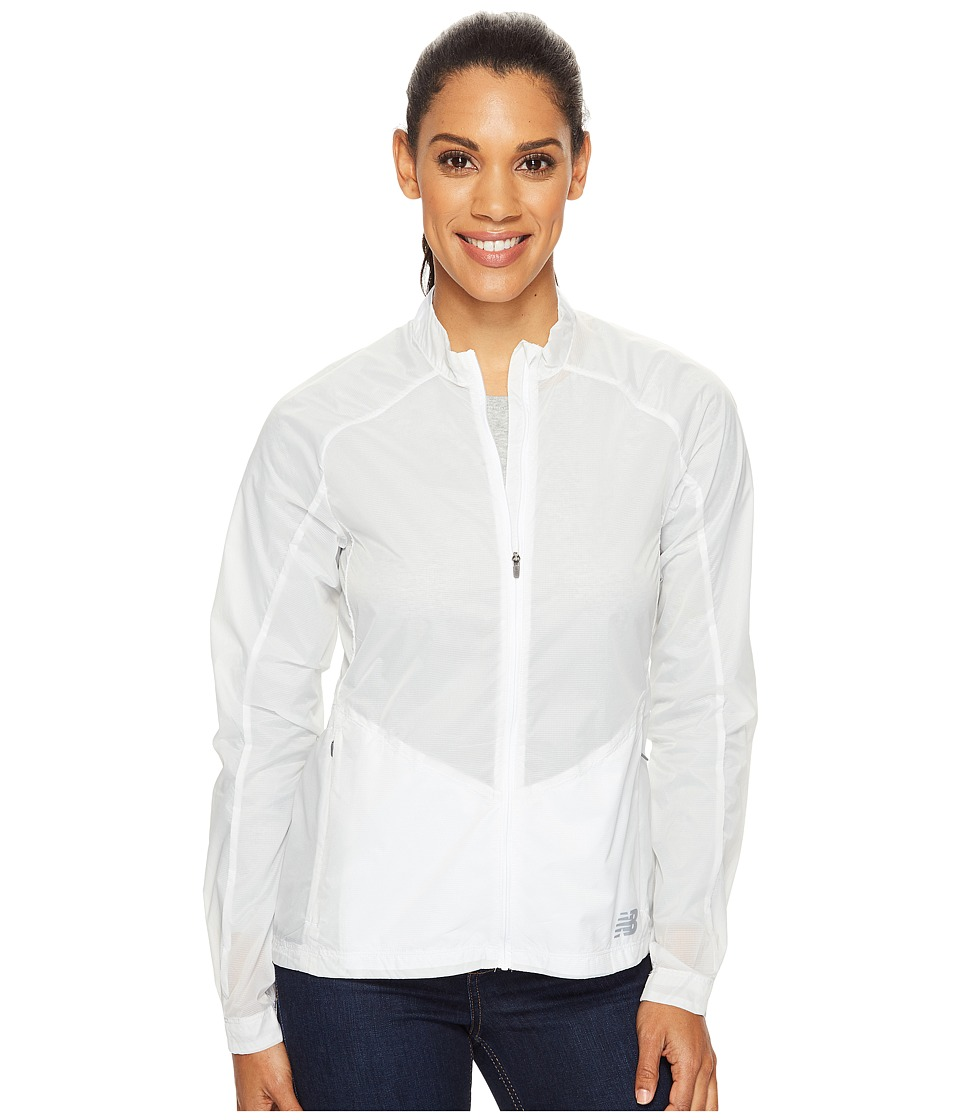 New Balance - First Jacket (White) Women's Coat