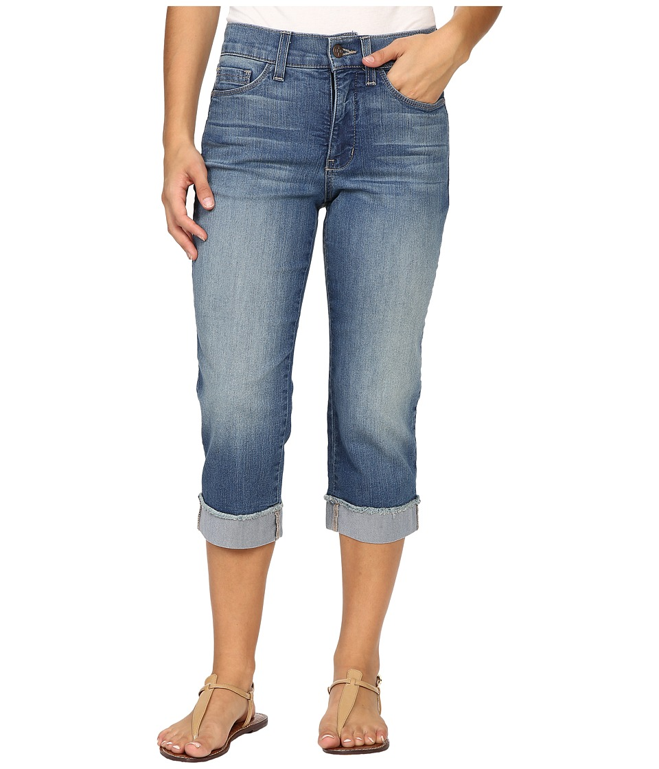 NYDJ Petite Petite Ariel Crop Jeans w/ Frayed Cuff in Istanbul (Istanbul) Women