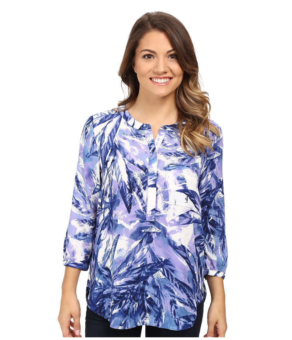 NYDJ Petite - Petite Georgette Blouse (Laurel Rainforest Blue) Women's Blouse