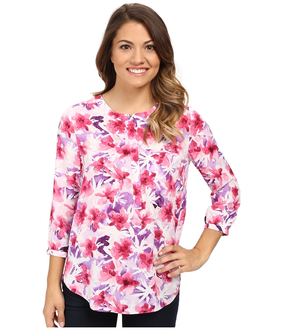 NYDJ Petite - Petite Georgette Blouse (Desert Wildflower Purple) Women's Blouse