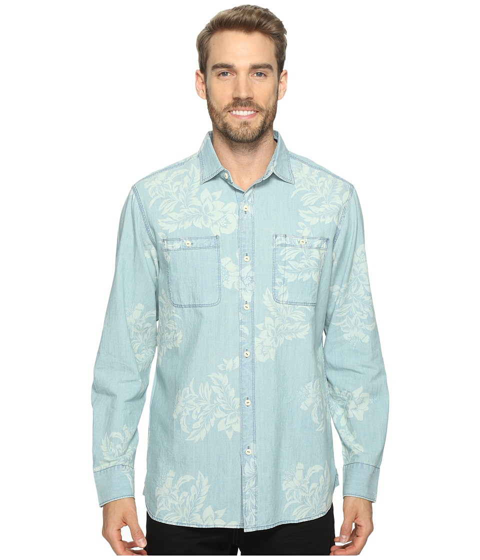 Tommy Bahama - Selaron Chambray Long Sleeve Woven Shirt (Chambray Blue) Men's Long Sleeve Button Up