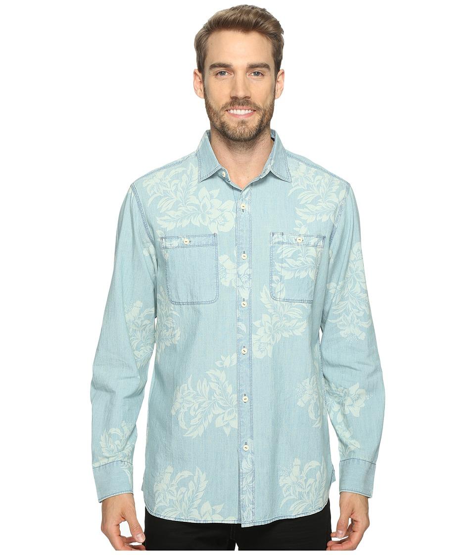 Tommy Bahama - Selaron Chambray Long Sleeve Woven Shirt (Chambray Blue) Men's Long Sleeve Button Up