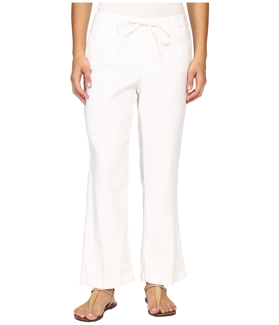 NYDJ Petite - Petite Jamie Relaxed Ankle Linen Pants (Optic White) Women's Casual Pants