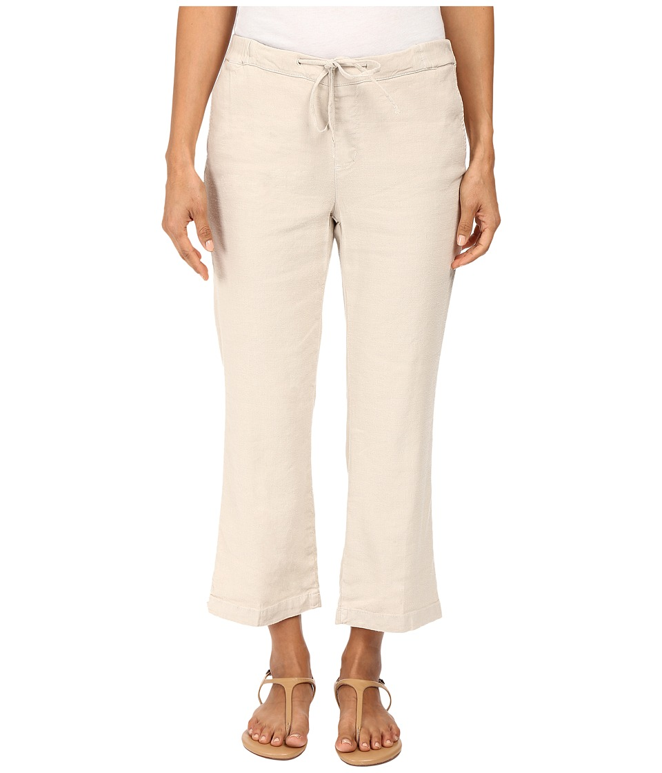 NYDJ Petite - Petite Jamie Relaxed Ankle Linen Pants (Sand Dollar) Women's Casual Pants plus size,  plus size fashion plus size appare