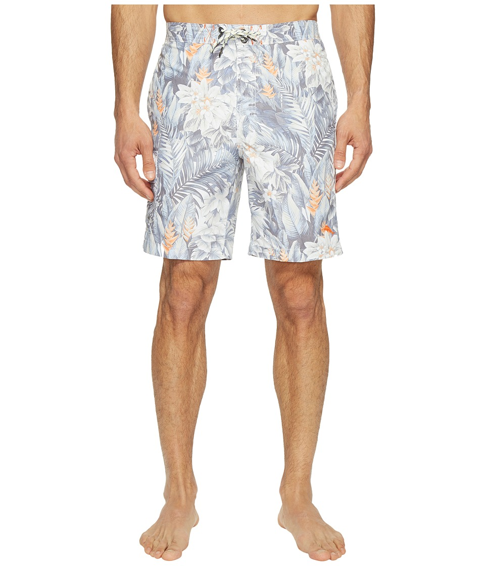 Tommy Bahama - Baja Botanico Beach Swim Trunks (Jet Black) Men's Swimwear