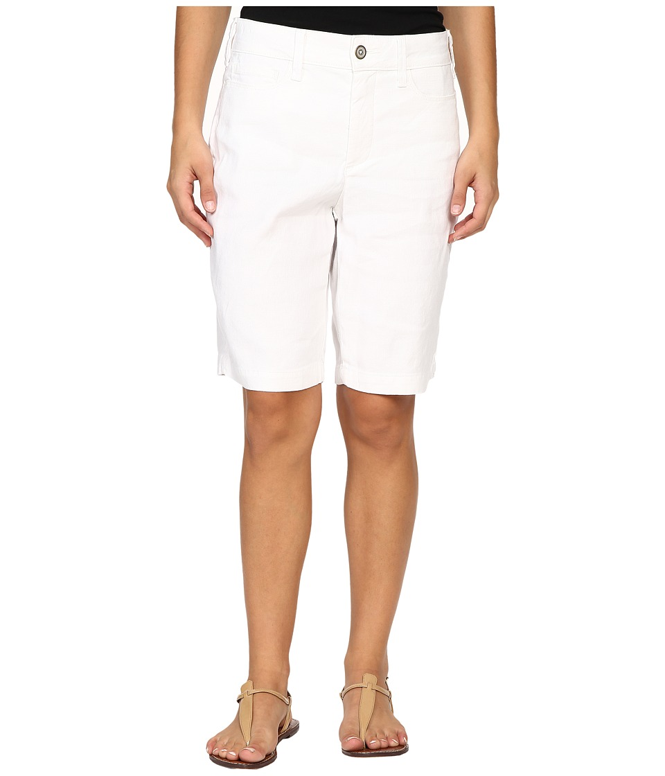 NYDJ Petite - Petite Catherine Shorts (Optic White) Women's Shorts