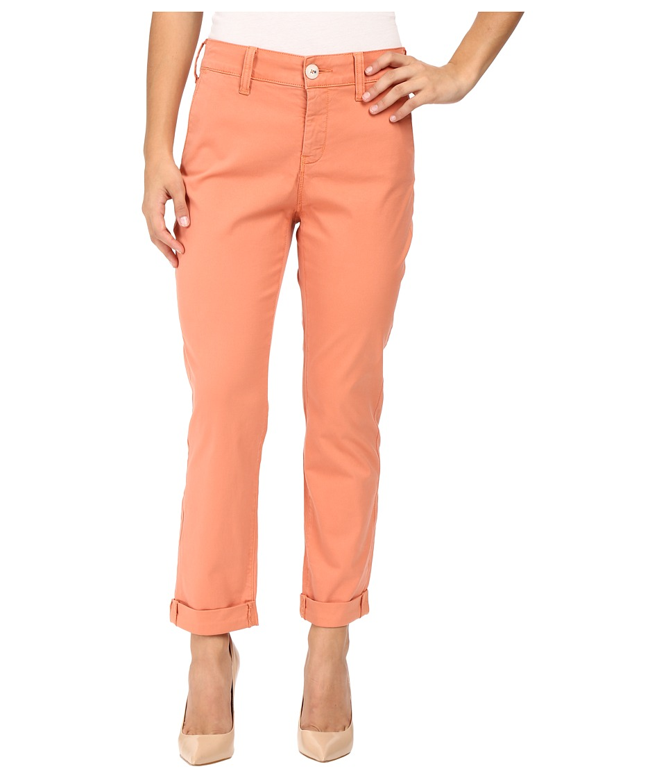 NYDJ Petite Petite Riley Relaxed Chino in Lightweight Twill (Coral Spice) Women