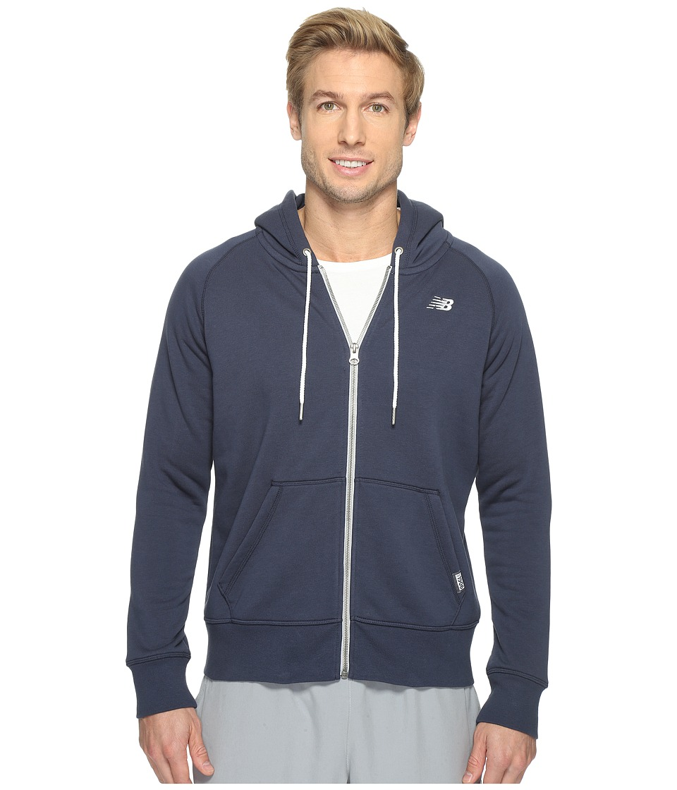 New Balance - Classic Full Zip Hoodie (Navy) Women's Sweatshirt