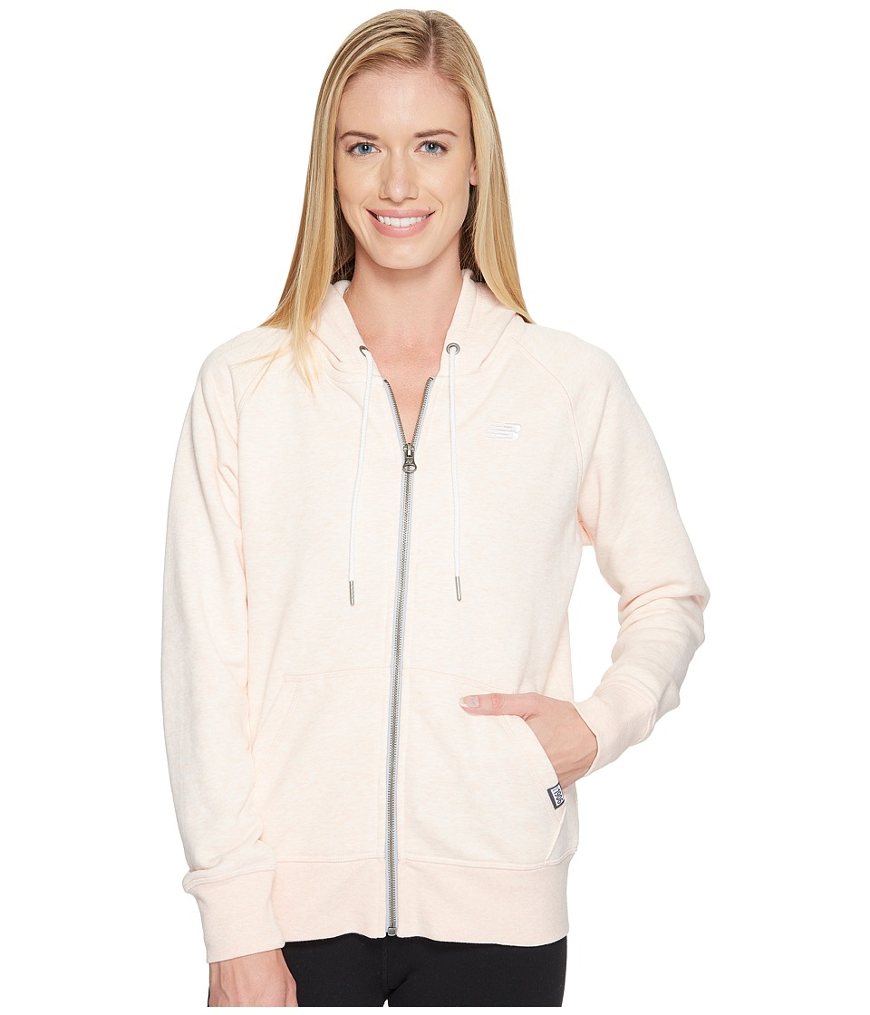 New Balance - Classic Full Zip Hoodie (Sunrise Glow Heather) Women's Sweatshirt