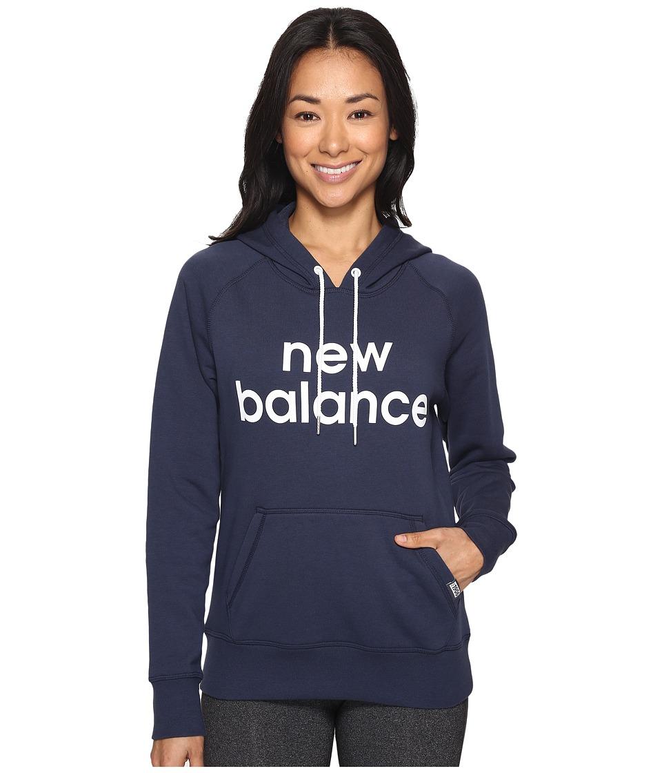 New Balance - Classic Pullover Hoodie (Navy) Women's Sweatshirt