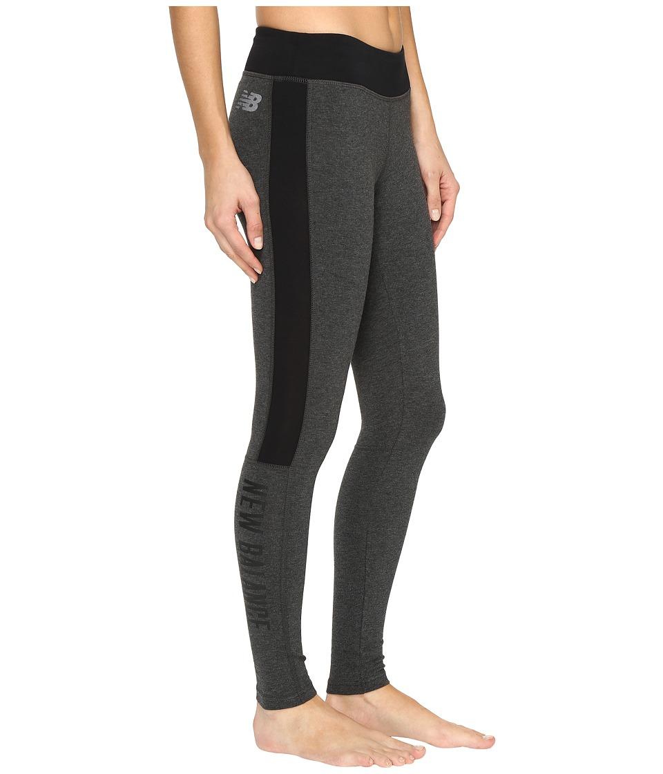 New Balance - Trackster Leggings (Heather Charcoal) Women's Workout