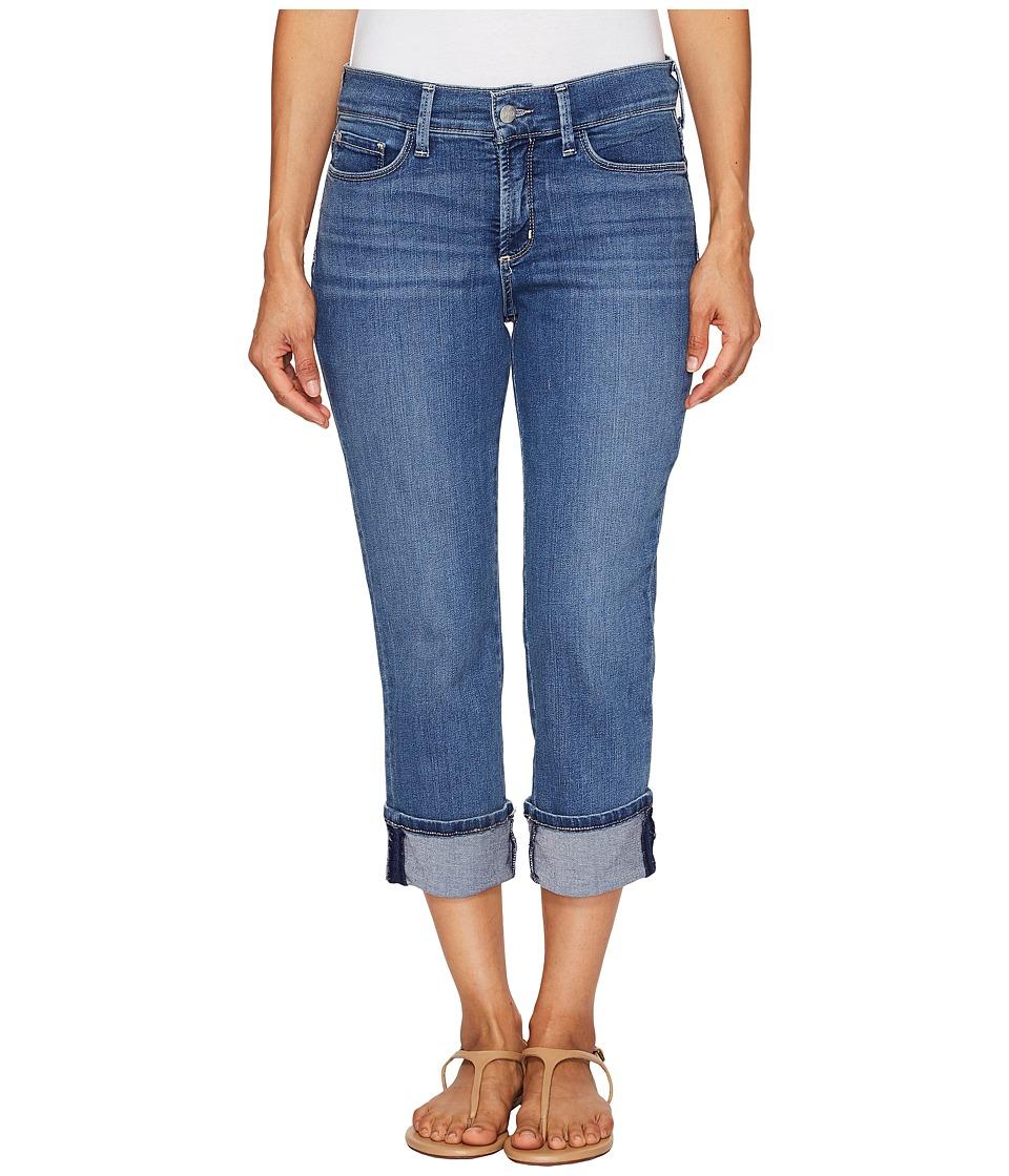 NYDJ Petite Petite Dayla Wide Cuffed Capri Jeans in Heyburn (Heyburn) Women