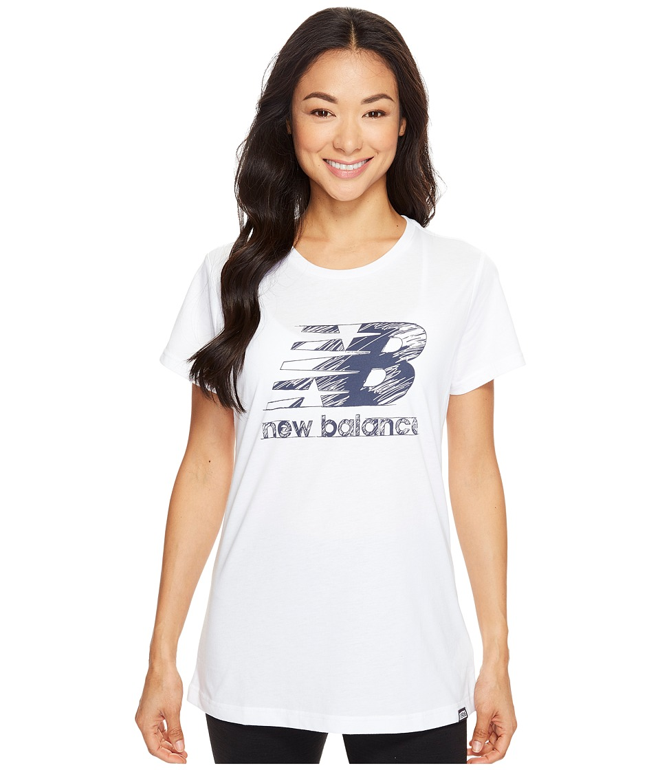 New Balance - Sketch Tee (White) Women's T Shirt