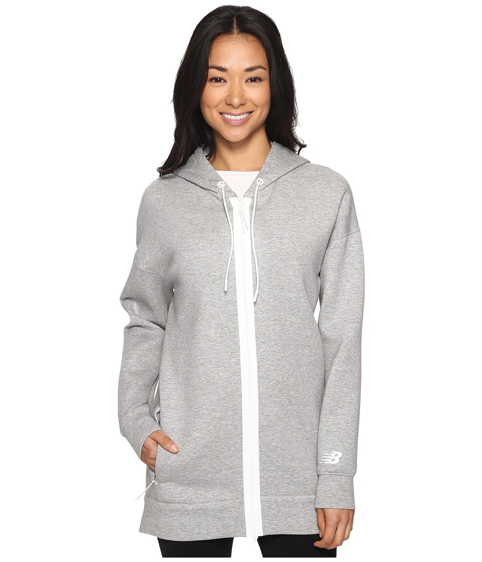 New Balance - Sport Style Fleece Hoodie (Athletic Grey) Women's Sweatshirt