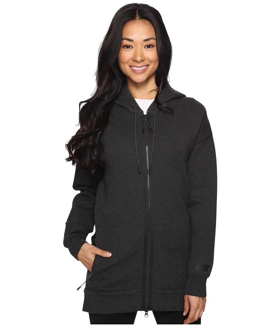 New Balance - Sport Style Fleece Hoodie (Black Heather) Women's Sweatshirt