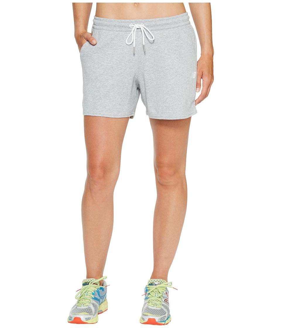 New Balance - Classic Fleece Shorts (Athletic Grey) Women's Shorts