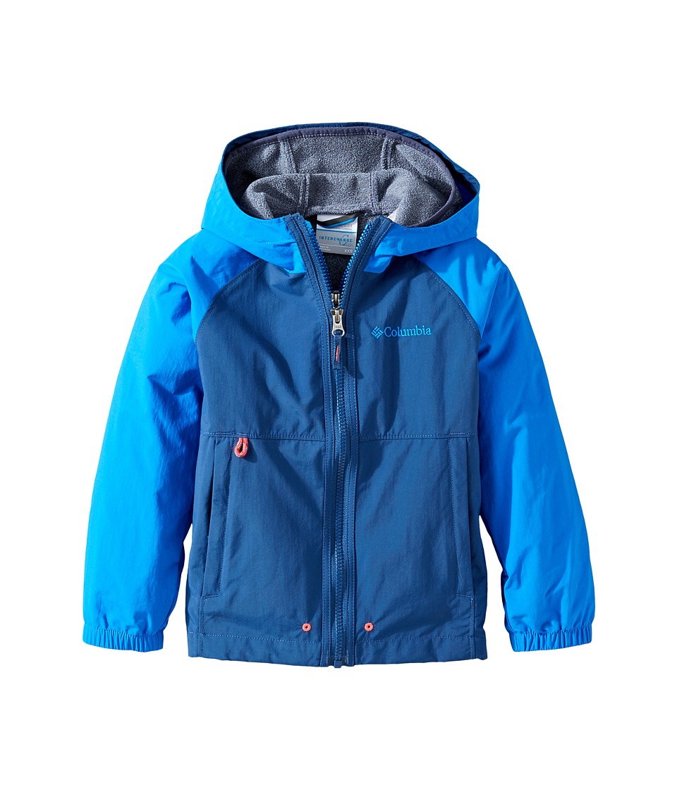 Columbia Kids - Next Destination B Interchange Jacket (Little Kids/Big Kids) (Carbon/Super Blue) Boy's Coat