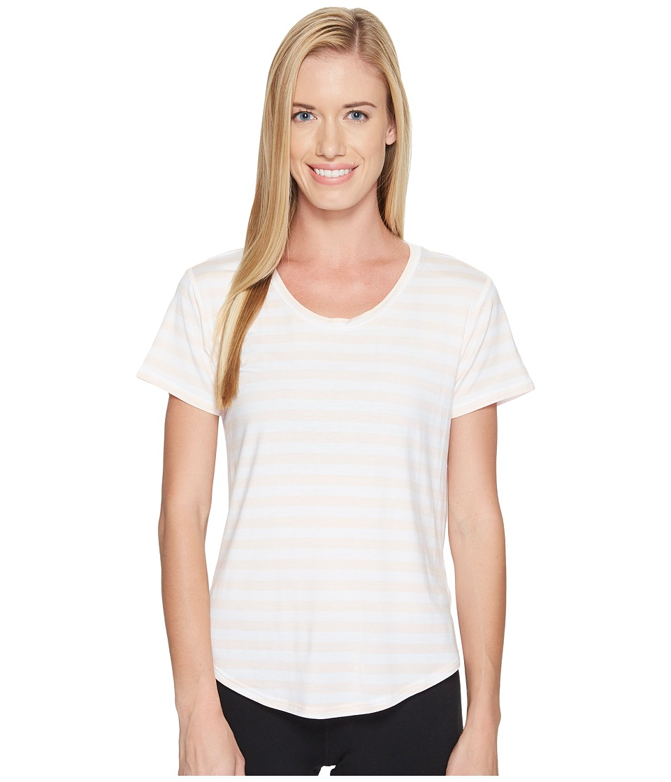 New Balance - Stripe Scoop Neck Tee (Sunrise Glow) Women's Short Sleeve Pullover