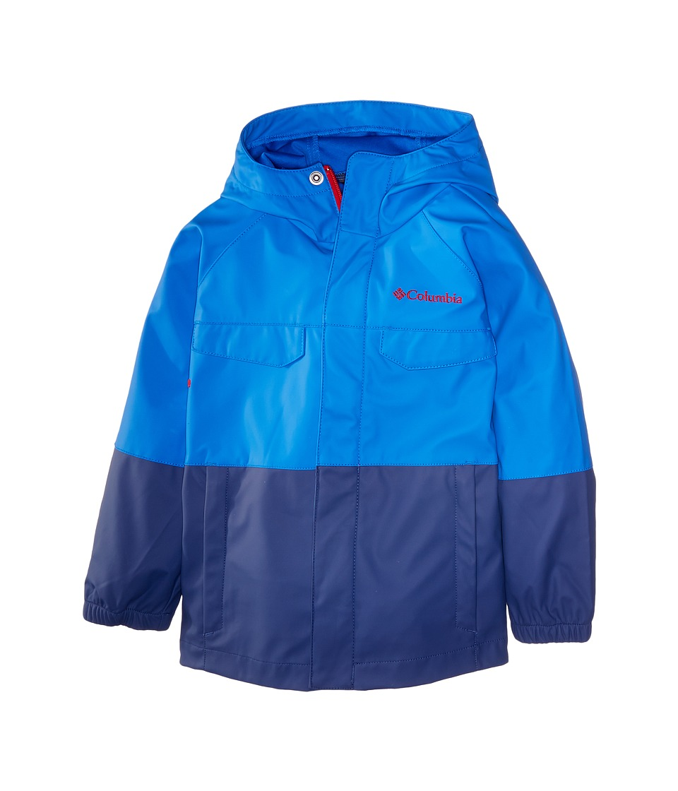 Columbia Kids - Ibex Rain Slicker (Little Kids/Big Kids) (Super Blue/Carbon) Boy's Coat