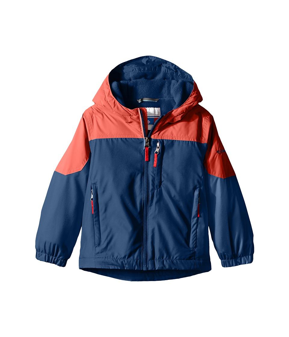 Columbia Kids - Ethan Pondtm Jacket (Little Kids/Big Kids) (Sunset Red/Carbon) Boy's Coat