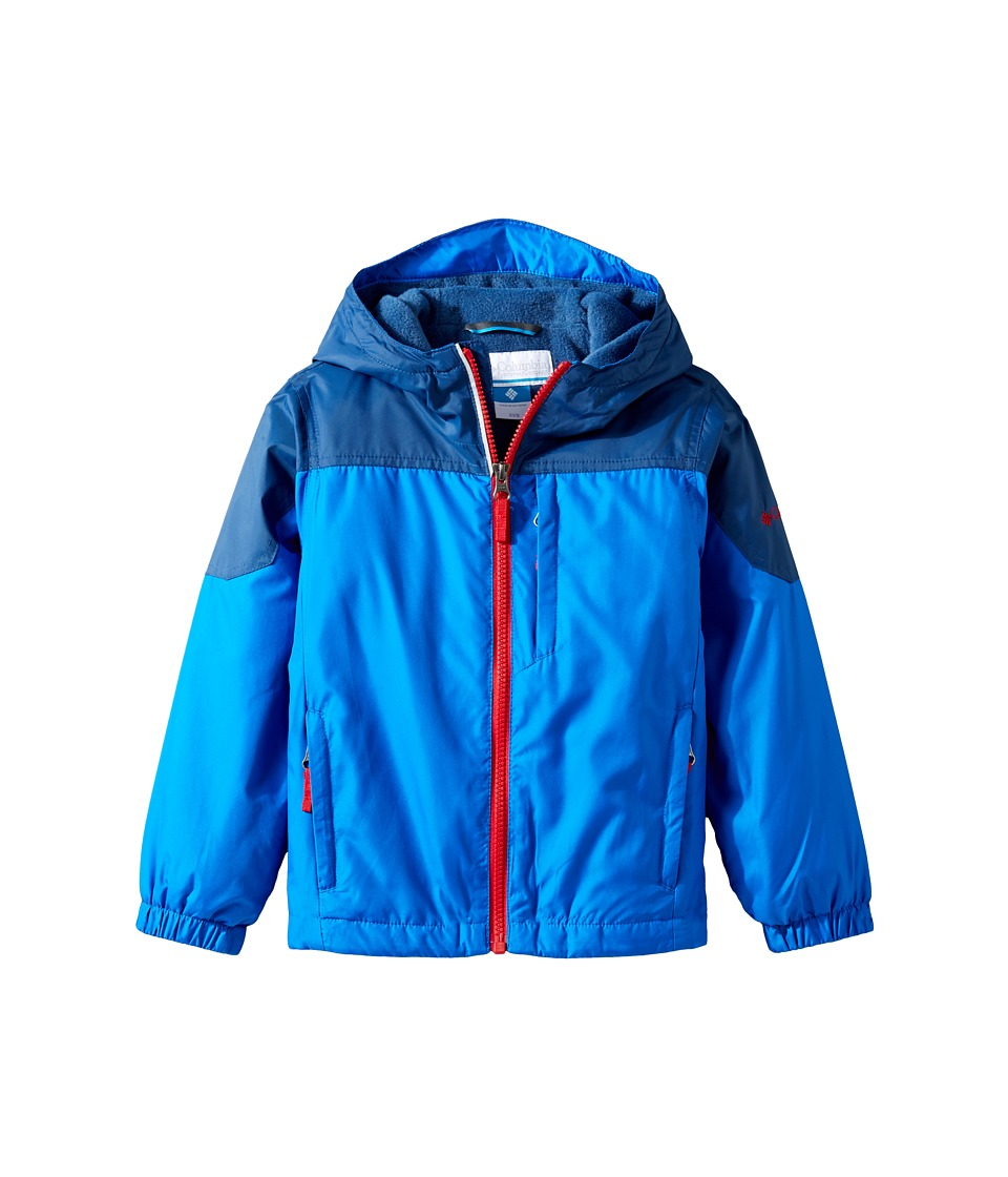 Columbia Kids - Ethan Pondtm Jacket (Little Kids/Big Kids) (Super Blue/Carbon/Mountain Red) Boy's Coat