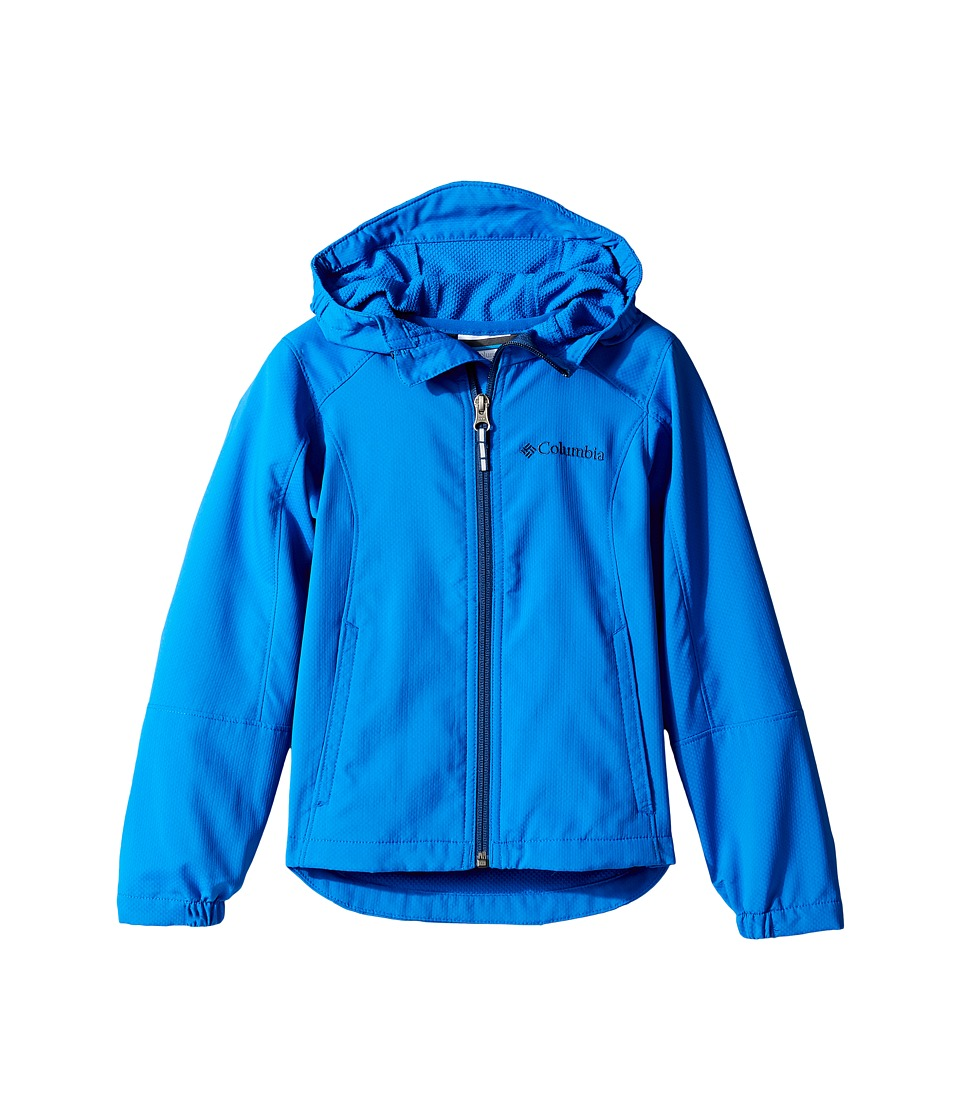 Columbia Kids - SplashFlashtm Hooded Softshell Jacket (Little Kids/Big Kids) (Super Blue/Carbon) Boy's Coat