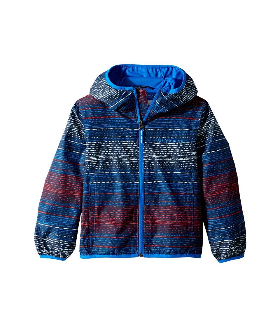 Columbia Kids - Pixel Grabber IItm Wind Jacket (Little Kids/Big Kids) (Super Blue Dotty Dye Stripe/Super Blue) Boy's Coat