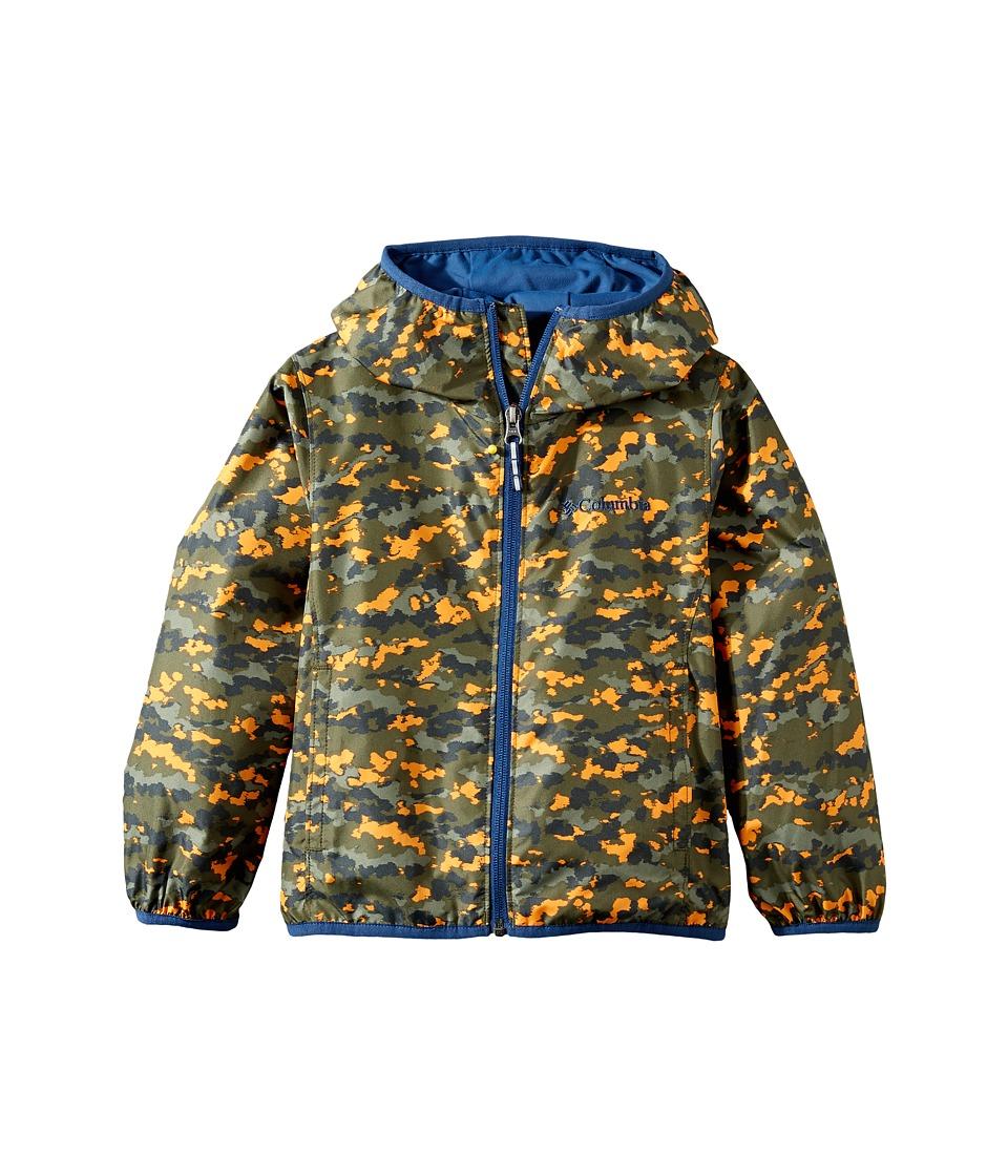 Columbia Kids - Pixel Grabber IItm Wind Jacket (Little Kids/Big Kids) (Cypress Camo/Carbon) Boy's Coat