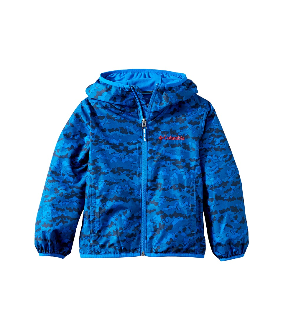 Columbia Kids - Pixel Grabber IItm Wind Jacket (Little Kids/Big Kids) (Super Blue Camo/Super Blue) Boy's Coat