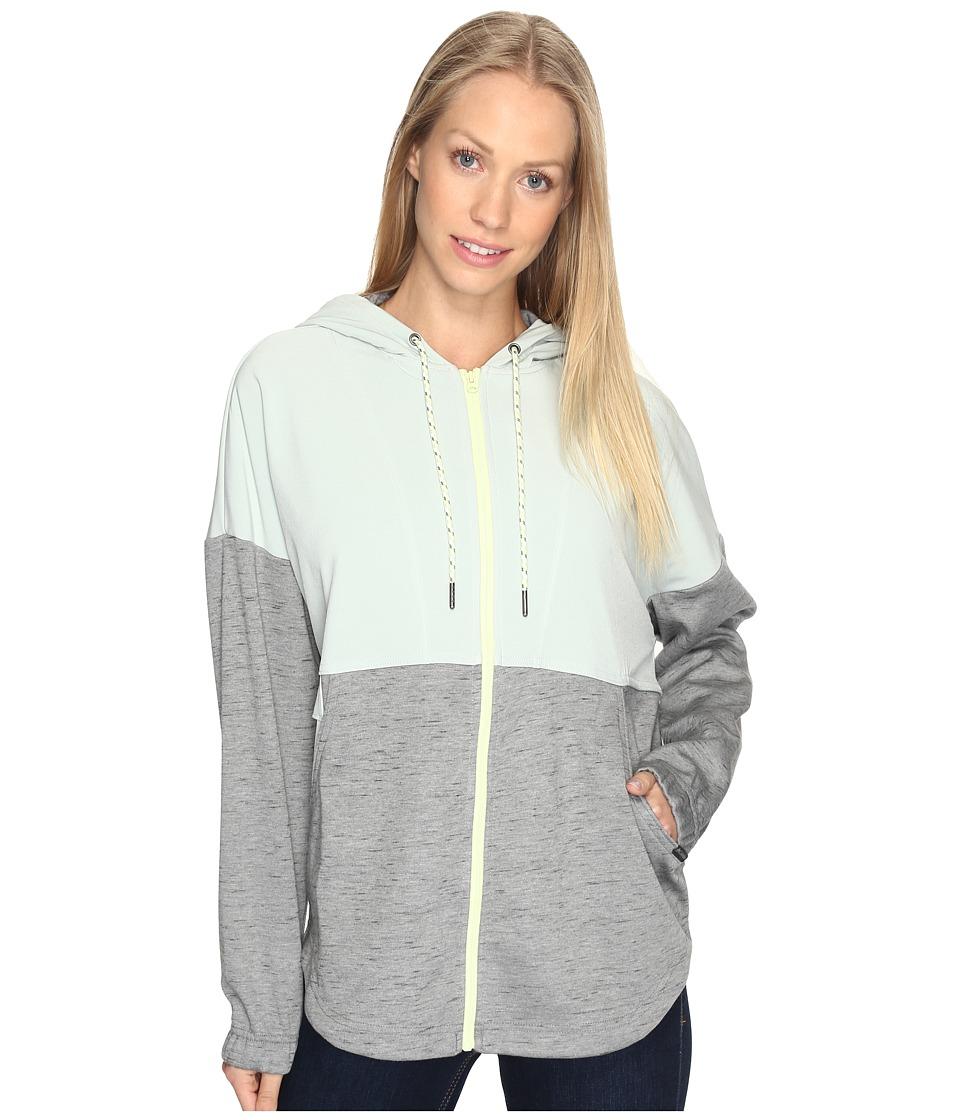 Columbia - Lost Lager Hoodie (Sedona Sage Heather/Cool Green/Spring Yellow) Women's Sweatshirt