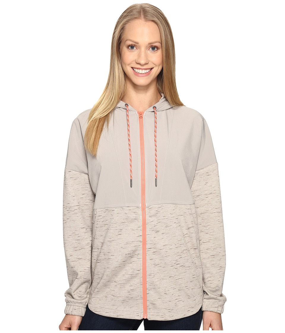 Columbia - Lost Lager Hoodie (Flint Grey Heather/Lychee) Women's Sweatshirt