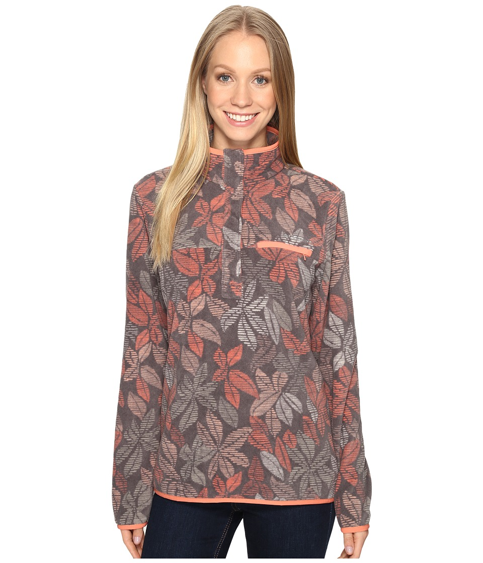 Columbia - Mountain Side Printed Pullover (Pulse Floral Lines) Women's Long Sleeve Pullover