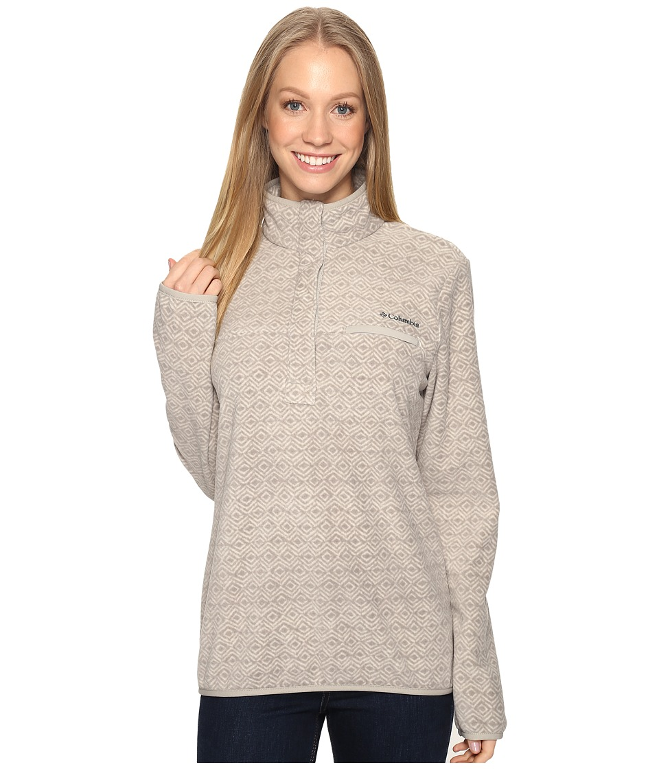 Columbia - Mountain Side Printed Pullover (Flint Grey Zigzag) Women's Long Sleeve Pullover