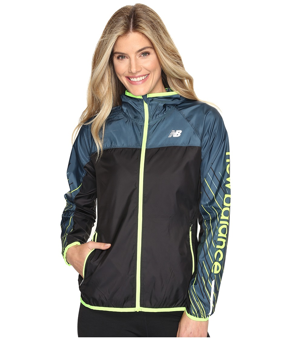 New Balance - Windcheater Jacket Printed (Supercell Sun Rays Stripe) Women's Coat