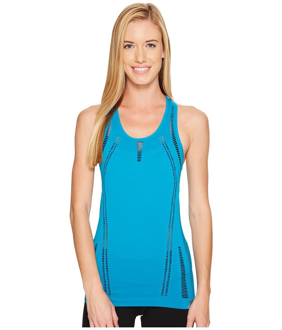 New Balance - M4M Seamless Breathe Tank Top (Deep Ozone Blue) Women's Sleeveless