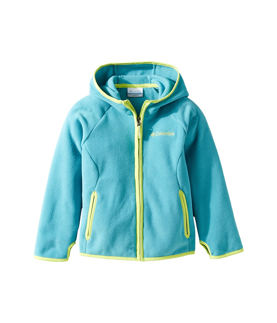 Columbia Kids - Fast Trektm Hoodie (Little Kids/Big Kids) (Teal/Voltage) Boy's Sweatshirt